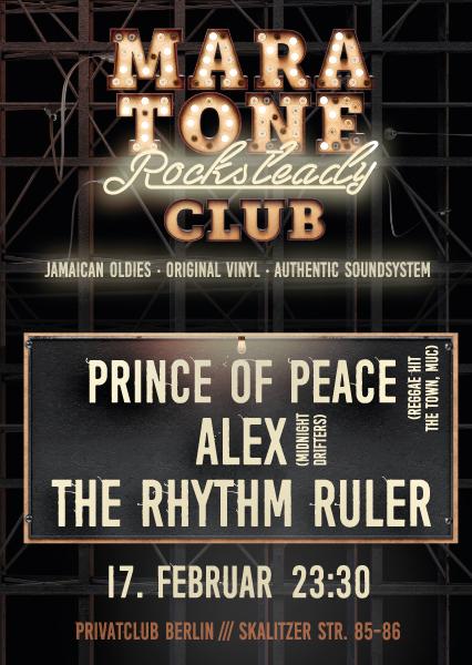 Maratone Rocksteady Club mit dem Prince of Peace