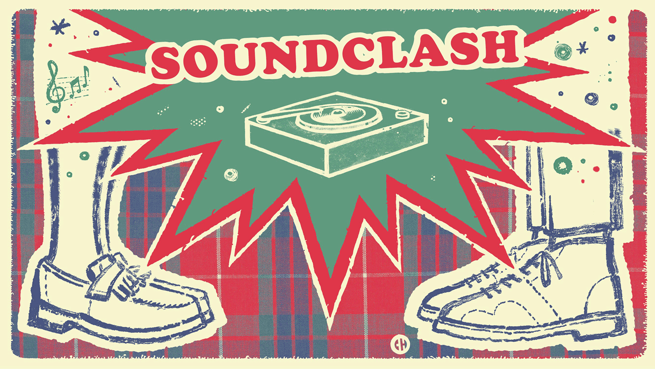 Banner for the Vintage Jamaican Music Soundclash 2019 - artwork by Chema Skandal