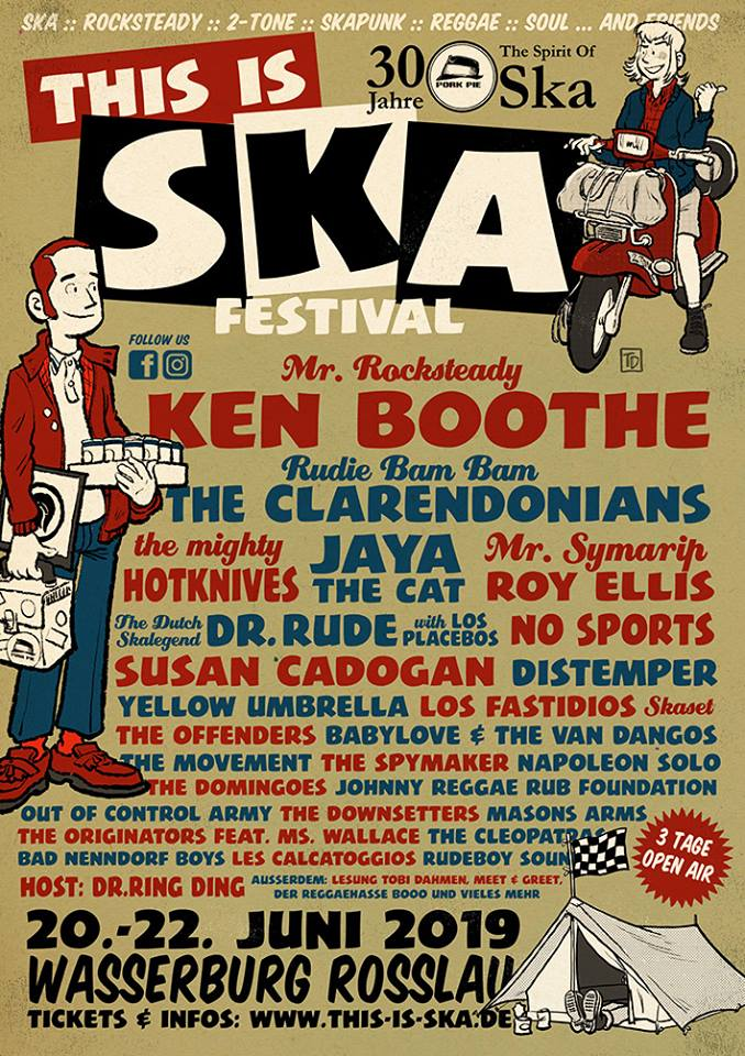 poster with bands for this is ska festival 2019